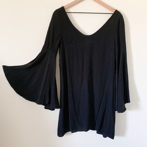 NWT Audrey Bell Sleeve Black Mini Dress